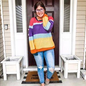 Colorful Striped Sweater - NWT